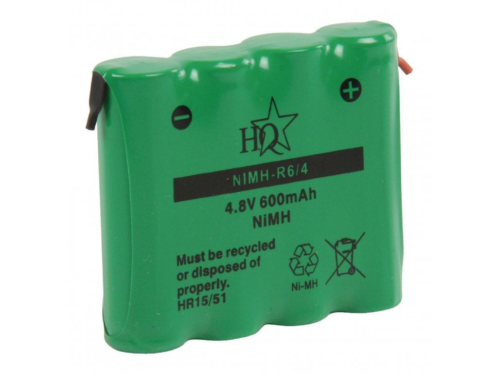 Akumulátor NiMH 4.8V/600mAh, NIMH-R6/4