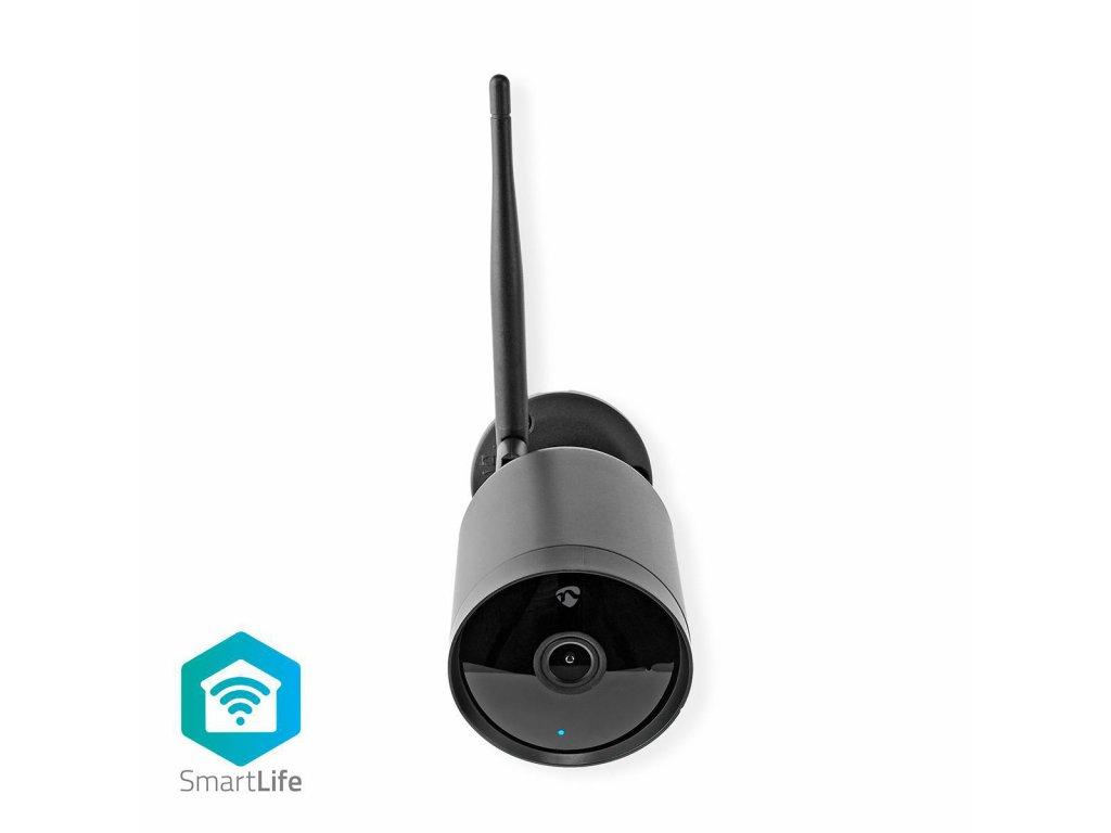 Nedis SmartLife chytrá IP kamera Full HD 1080p, venkovní IP65, noční vidění, kovová (WIFICO40CBK)