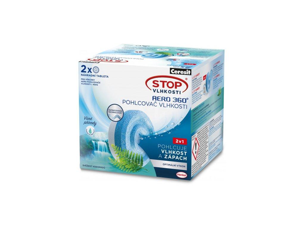 Ceresit STOP VLHKOSTI AERO 360° náhradní tablety 3v1 svěžest vodopádů (2x450g)