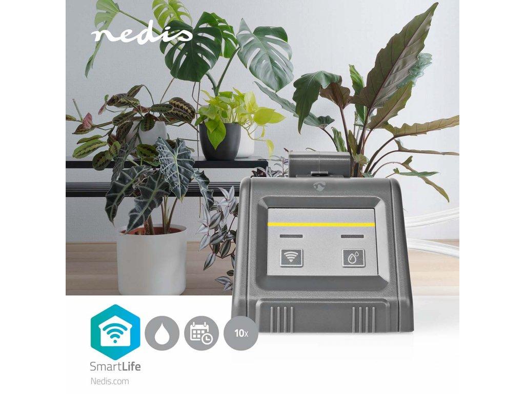 Nedis SmartLife chytrý WiFi zavlažovací systém pro až 10 rostlin, napájení USB nebo baterie (WIFIWP10GY)