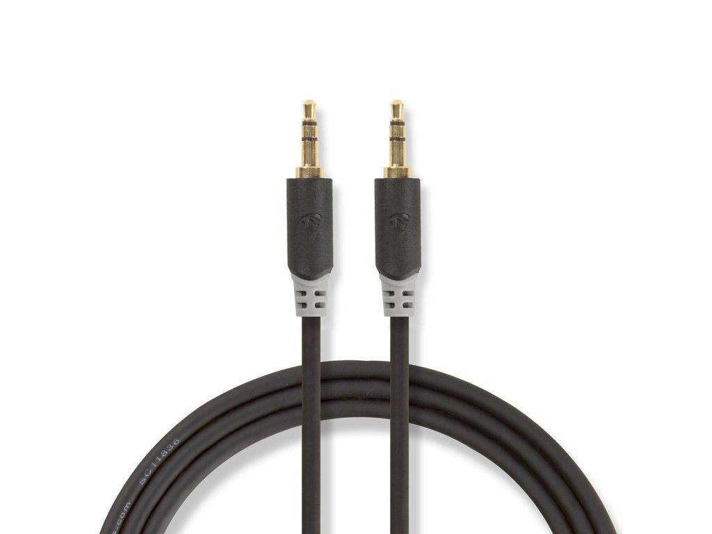 Stereo Audio Kabel | 3,5 mm Zástrčka | 3,5 mm Zástrčka | Pozlacené | 2.00 m | Kulatý | Antracitová | Plastový Sáček