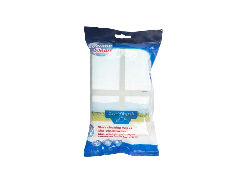 Vlhčené čisticí ubrousky na sklo 60ks, uzavíratelný pack