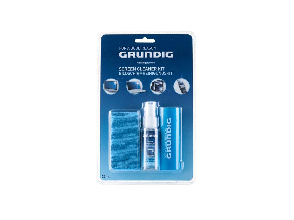 Grundig 33996 čisticí set na obrazovky (gel 20ml, utěrka z mikrovlákna 20x20cm a štěteček na nečistoty)