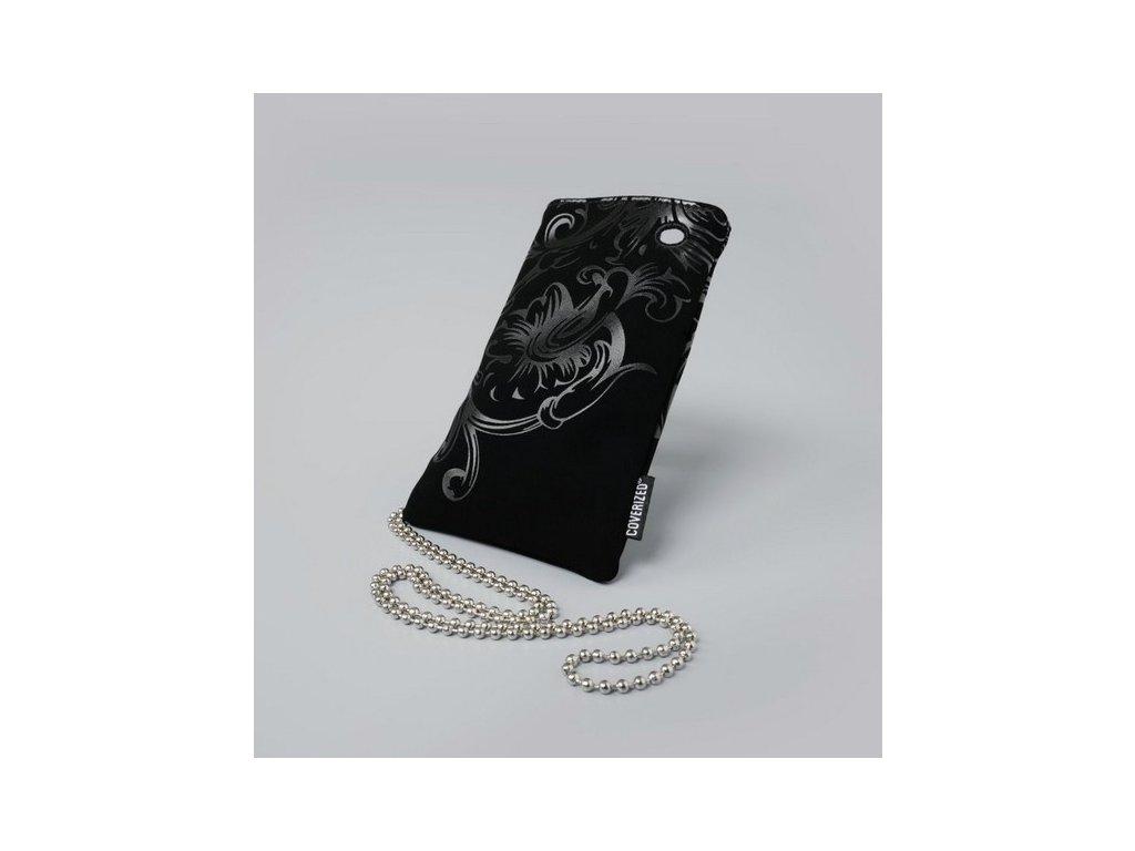 Coverized DECO velká brašna na MP3 / MP4 / PDA / mobilní telefon, černá