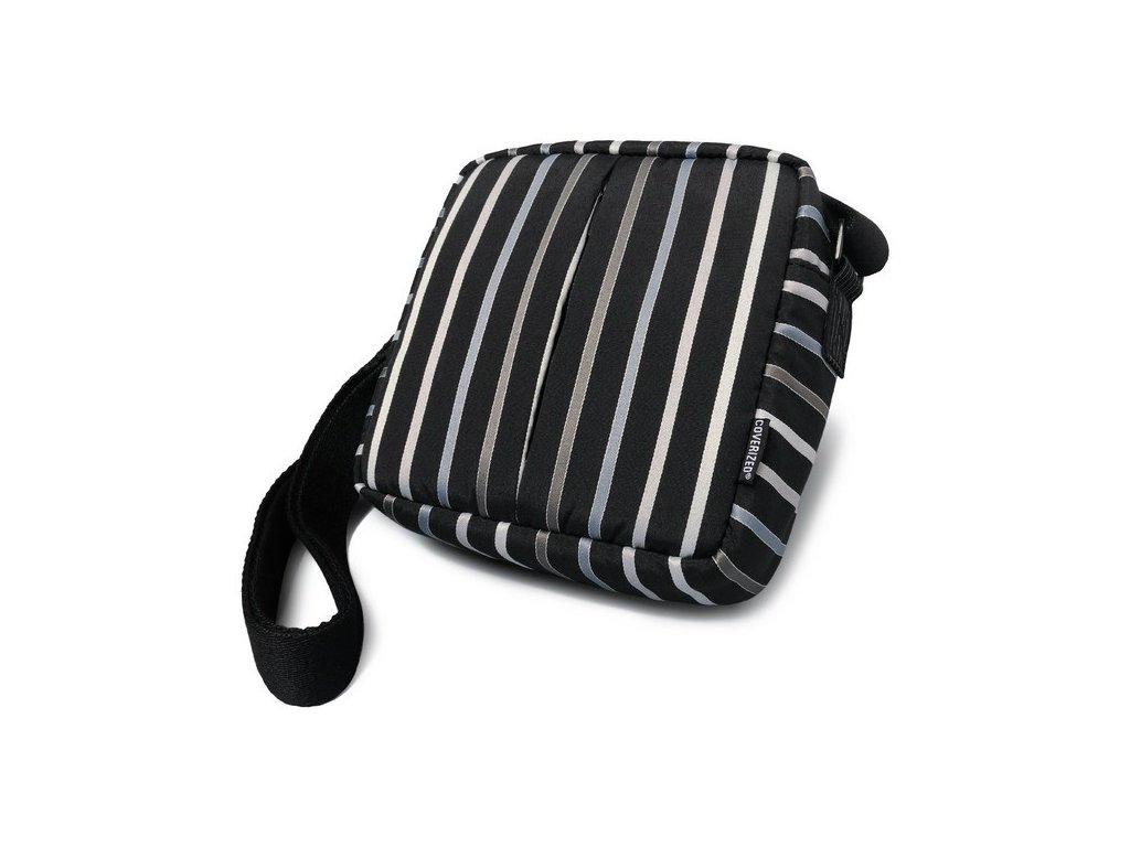 Coverized TAILOR velká brašna na foto / video, černá, široké pruhy
