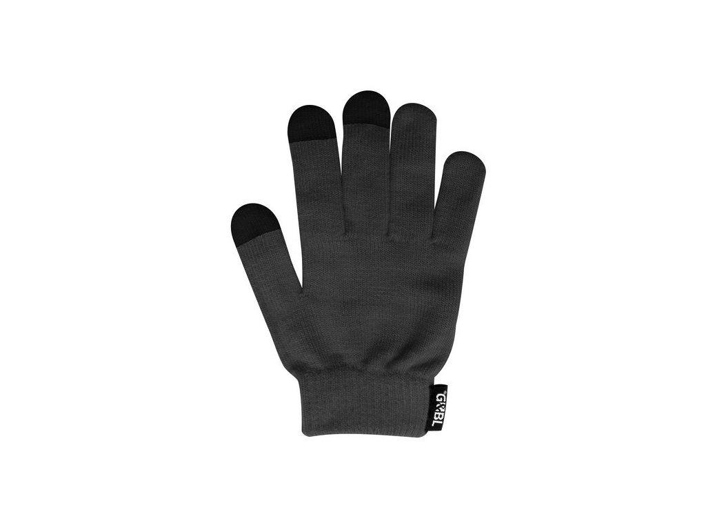 Rukavice iTECH s elektrovodivými konečky 3575 (5 prstů) velikost S/M šedé