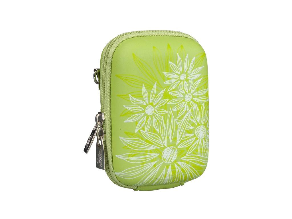 Riva Case 7023 pouzdro na fotoaparát, zelené Flowers