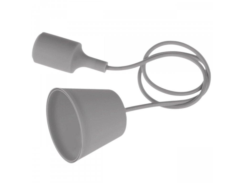 Závěsné svítidlo - lustr E27 1.5m šedé Century FTGR-150
