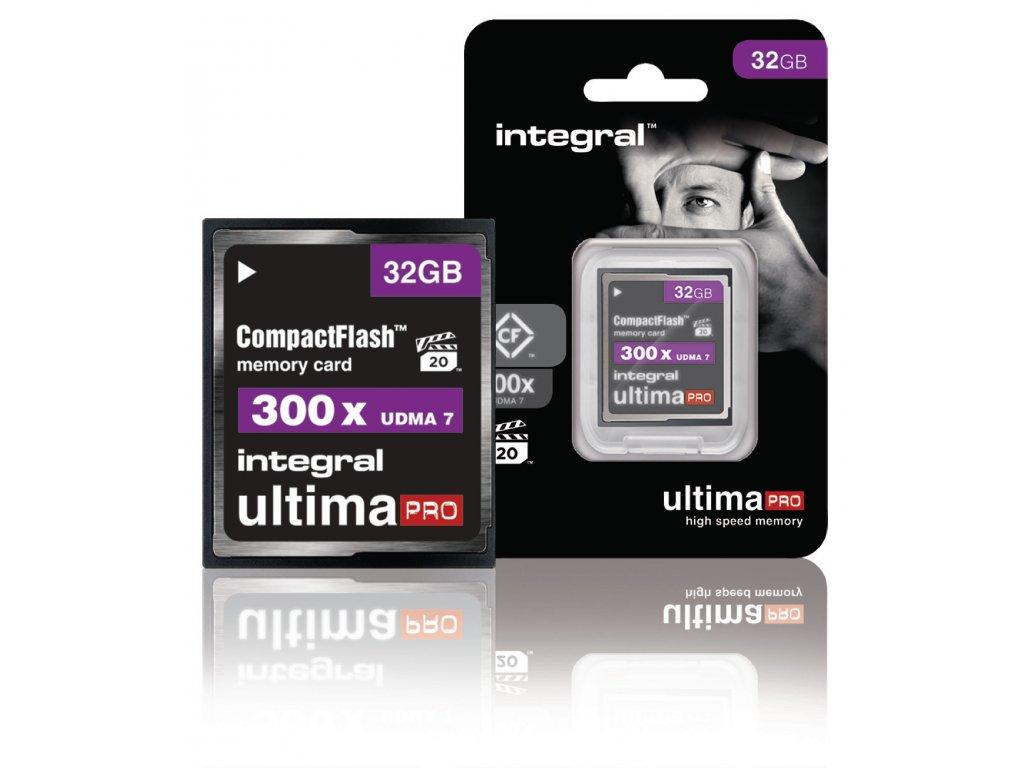 Paměťová karta Integral UltimaPro Compact Flash 32 GB 300x, INCF32G300W