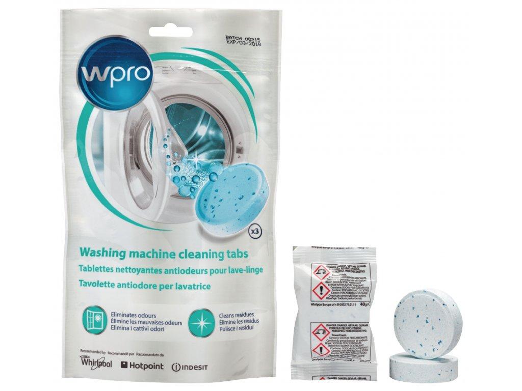 Čisticí tablety do pračky, 3 ks Whirlpool 484000001180