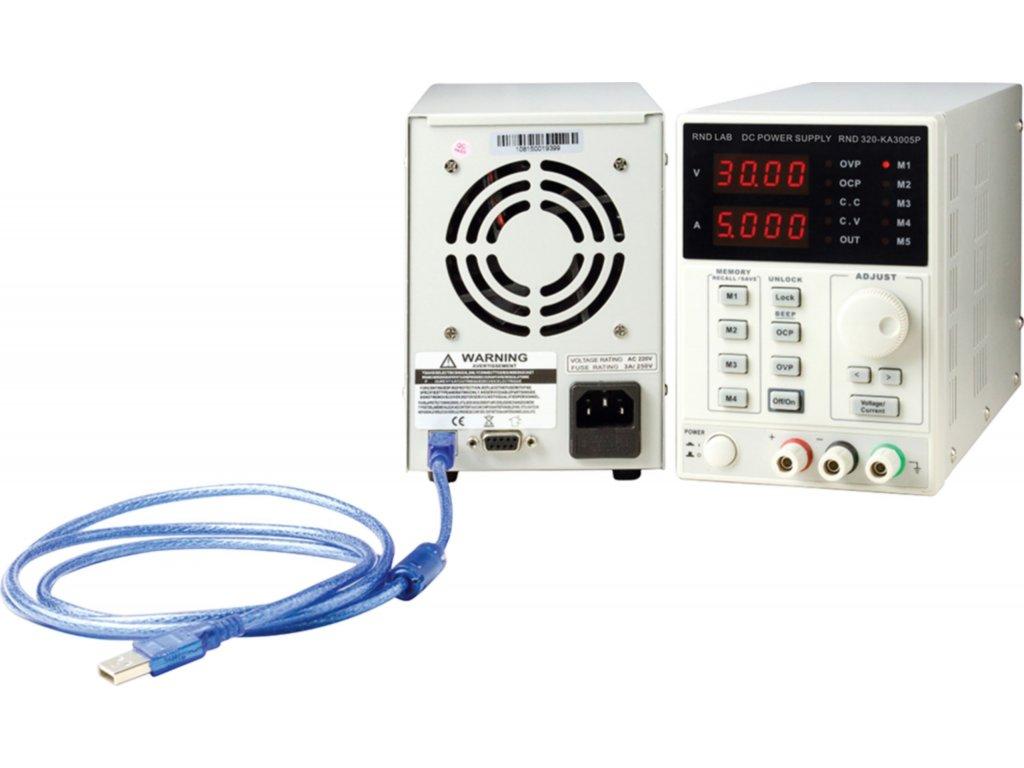 Programovatelný laboratorní napájecí zdroj, 4 pam.,1 kanál, 0÷30 VDC, 0÷5 A, RND320-KA3005P