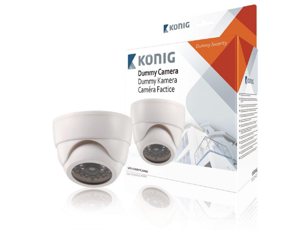 Atrapa interiérové bezpečnostní CCTV natáčecí DOME kamery König SAS-DUMMYCAM60