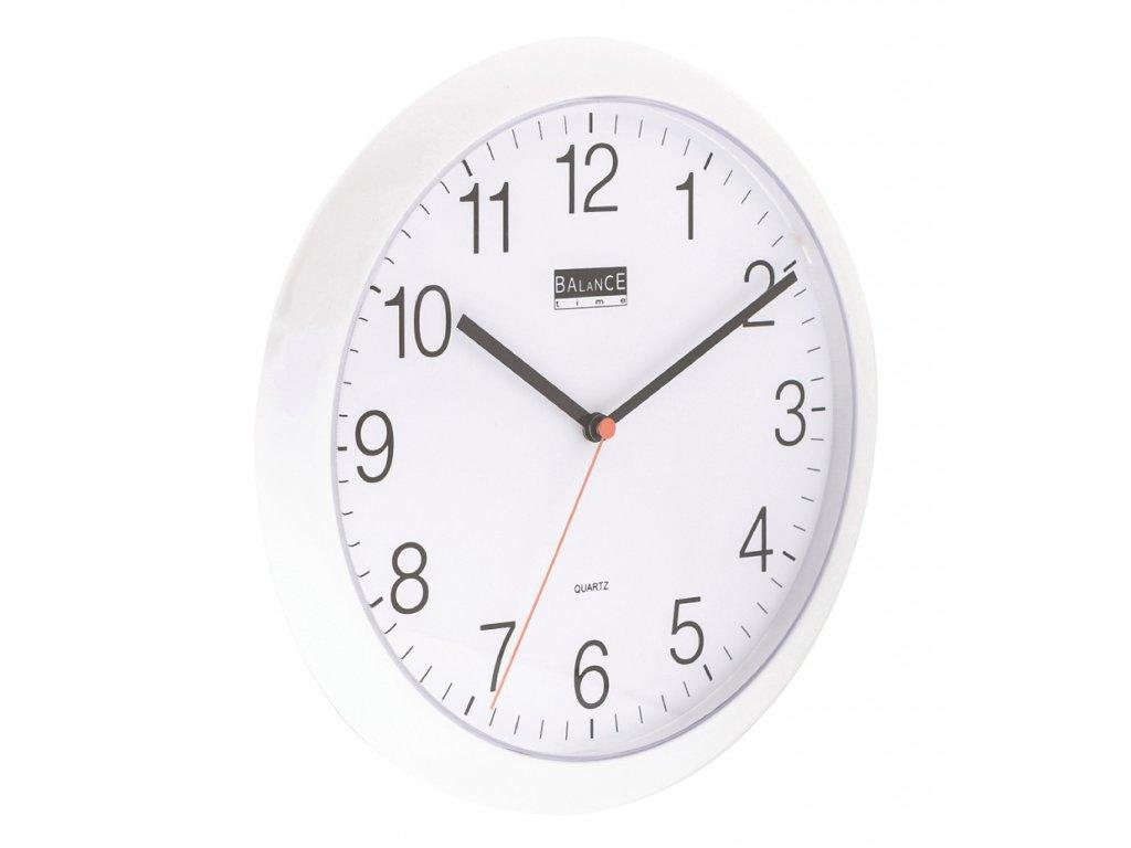 Analogové nástěnné hodiny 25 cm bílé, Balance 506733