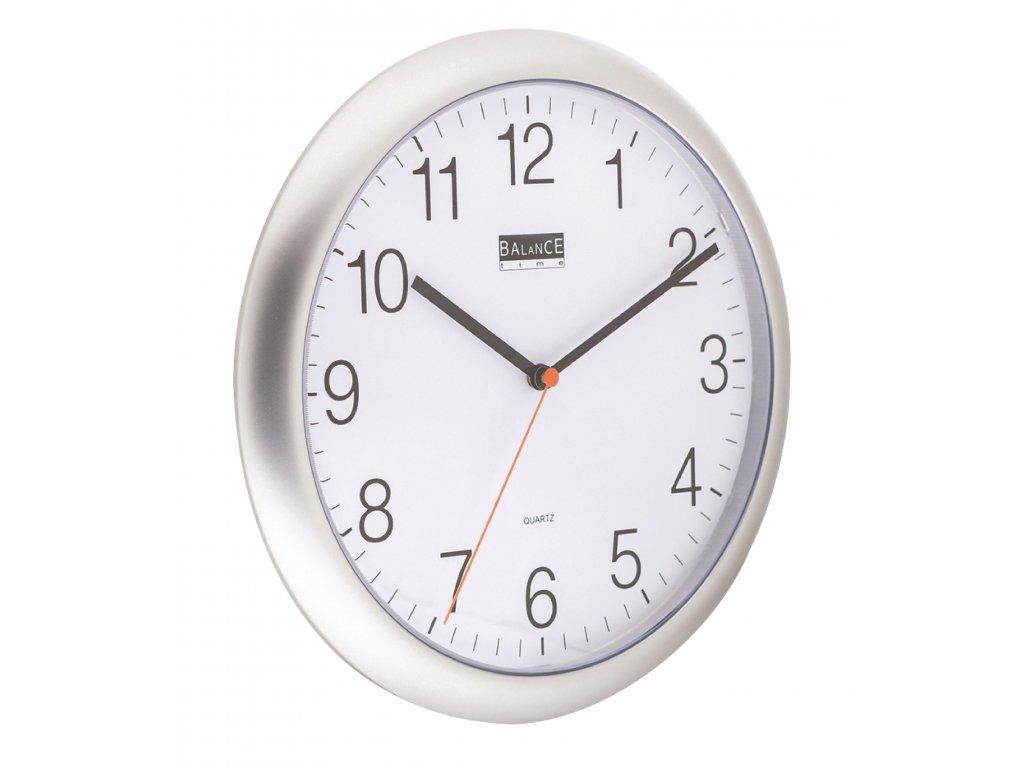 Analogové nástěnné hodiny 25 cm stříbrné, Balance 506819