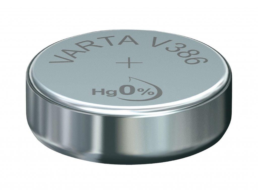 Stříbro-oxidová hodinková baterie SR43/V386 1.55 V 105 mAh, VARTA-V386