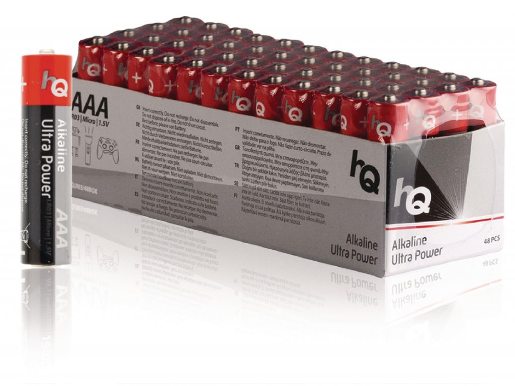 Alkalická baterie HQ Ultra Power AAA 1.5 V, 48ks, HQLR03/48BOX