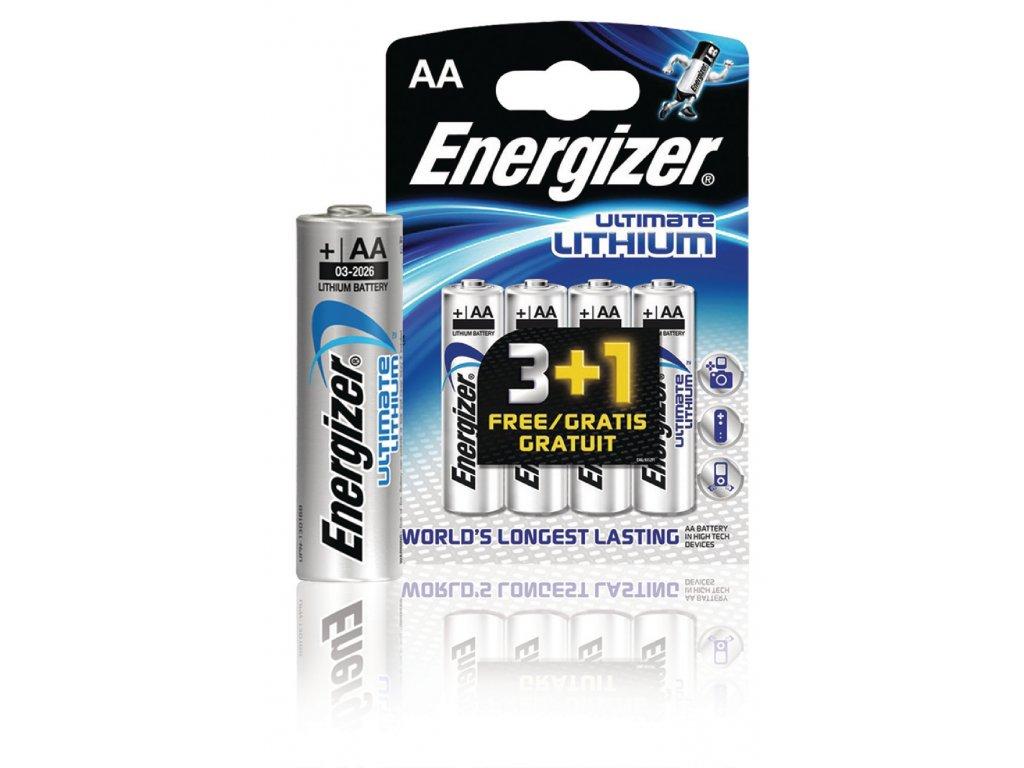 Lithiová baterie Energizer Ultimate AA 1.5V, 4ks, EN-639157