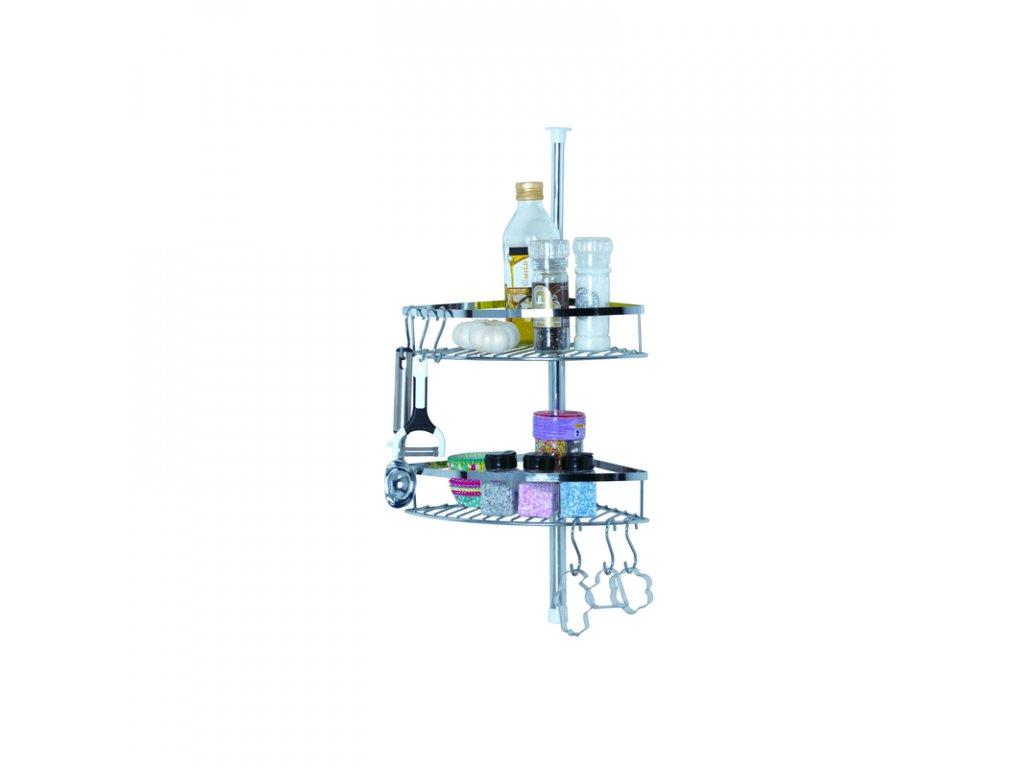 Alpina 56348 kuchyňská teleskopická polička z nerezu