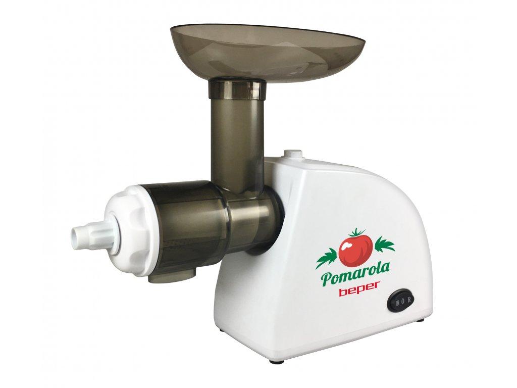 BEPER BP720 elektrický odšťavňovač rajčat, nerezové sítko, 300W
