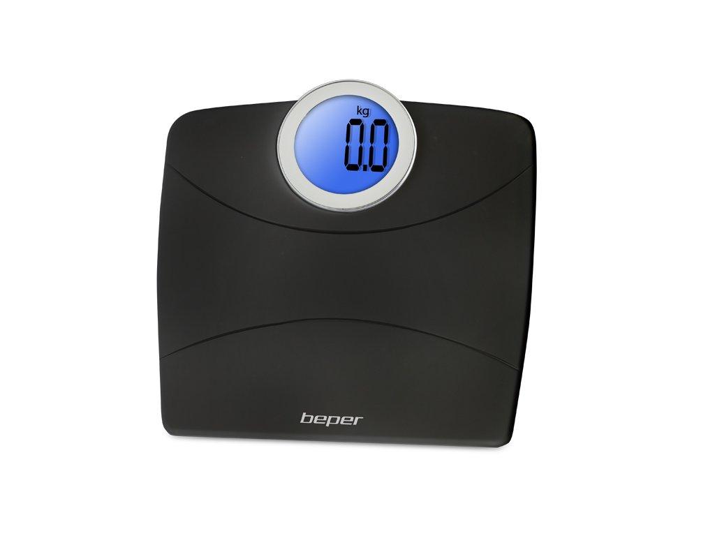 BEPER 40811-N digitální váha s kulatým displejem do 180 kg, černá