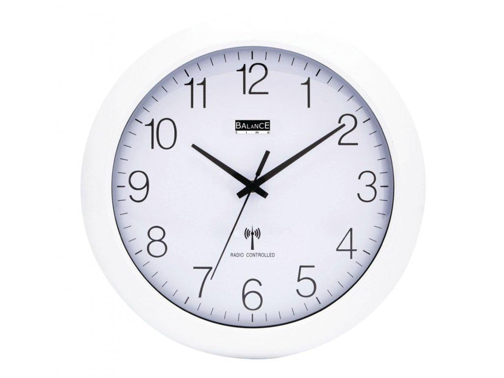 Rádiem řízené nástěnné hodiny 30 cm bílé, Balance 506407