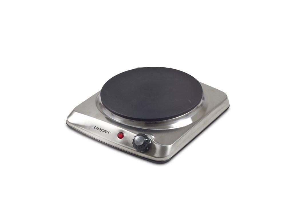 BEPER 90820 jednoplotýnkový nerez elektrický vařič 1500W