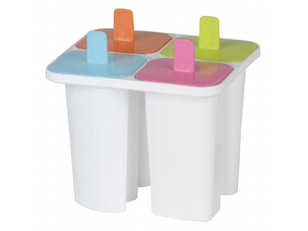 Forma na nanuky a zmrzlinu barevná (4 tvořítka)