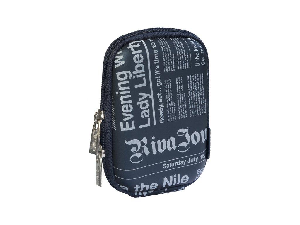 Riva Case 7103 pouzdro na fotoaparát, tmavě modré Newspaper
