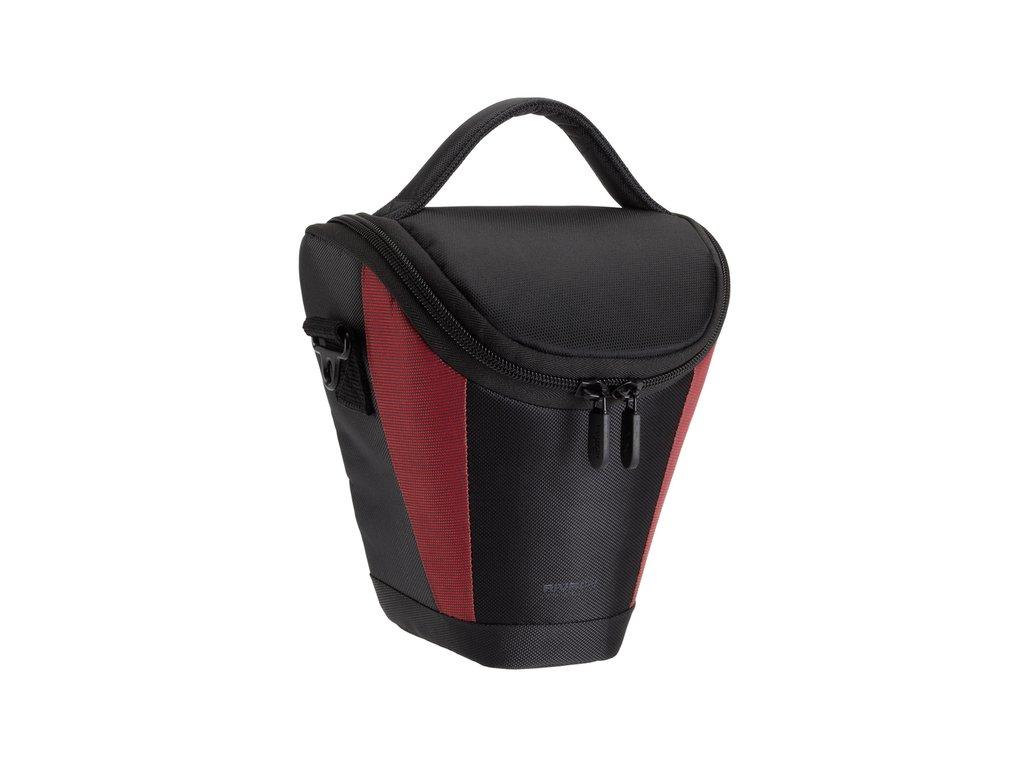 Riva Case 7227 pouzdro pro zrcadlovky a ultrazoomy, černé / červené