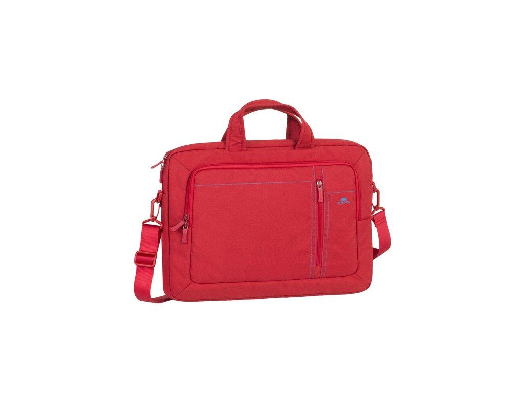 """Riva Case 7530 plátěná stylová taška na notebook 15.6"""", červená"""