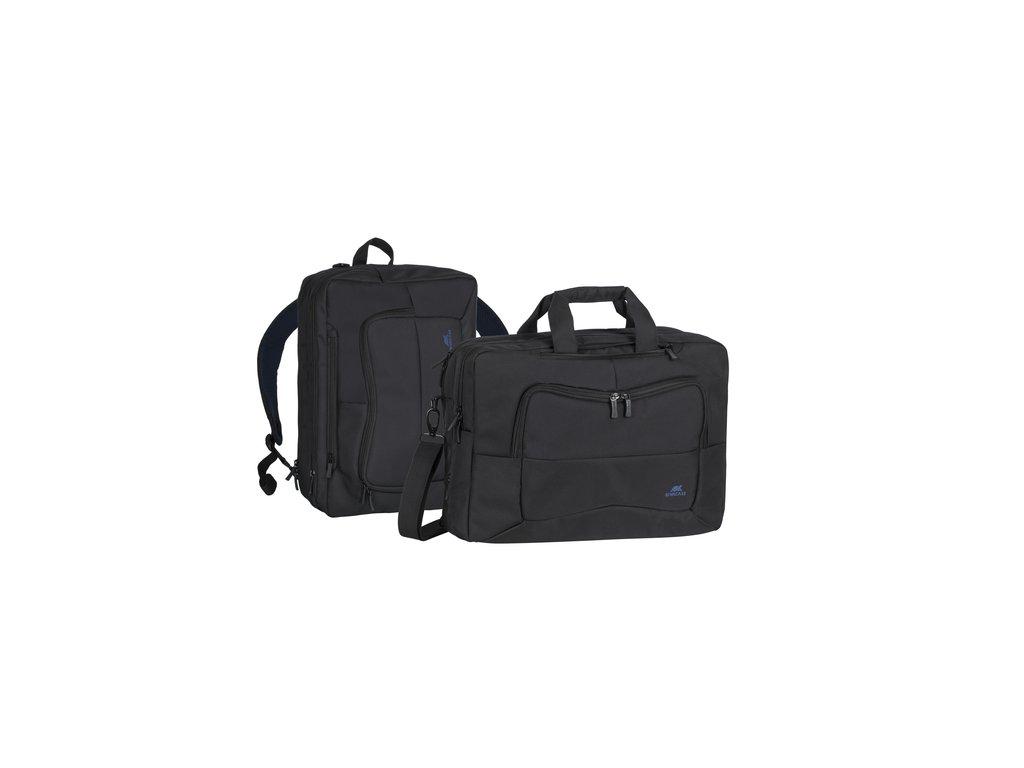 """Riva Case 8490 konvertibilní batoh/brašna na notebook 16"""", černý"""