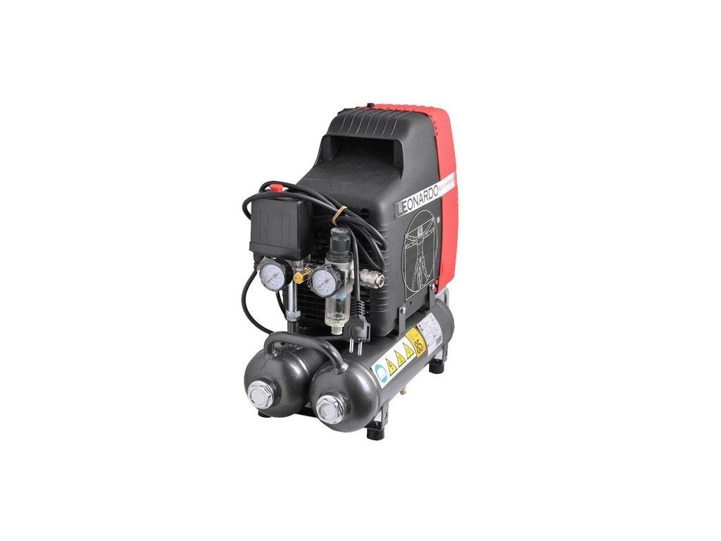 Vzduchový kompresor LEONARDO 1Hp bezolejový, 750W