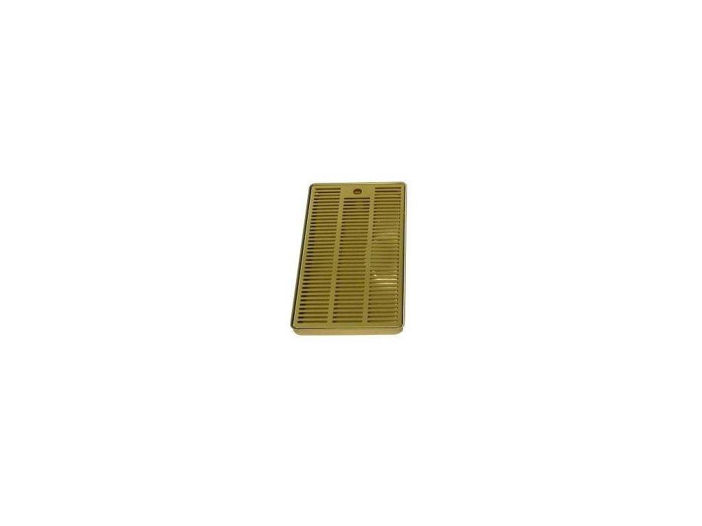 Odkapová miska zlato (nitrid titanu) 400x220mm k výčepním stojanům