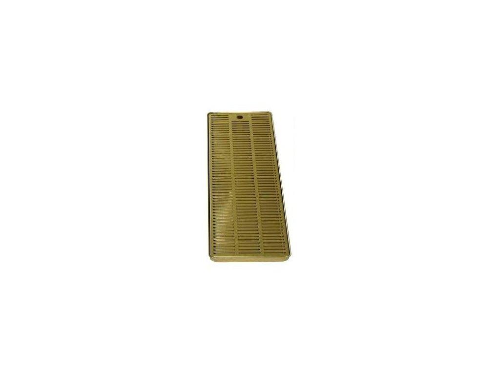Odkapová miska zlato (nitrid titanu) 600x220mm k výčepním stojanům