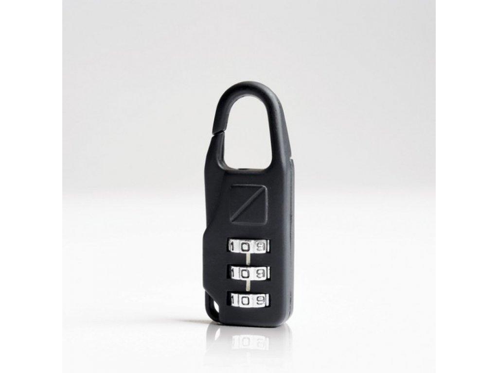 Bezpečnostní cestovní zámek na zavazadla kovový bez klíčů na kombinaci TB034