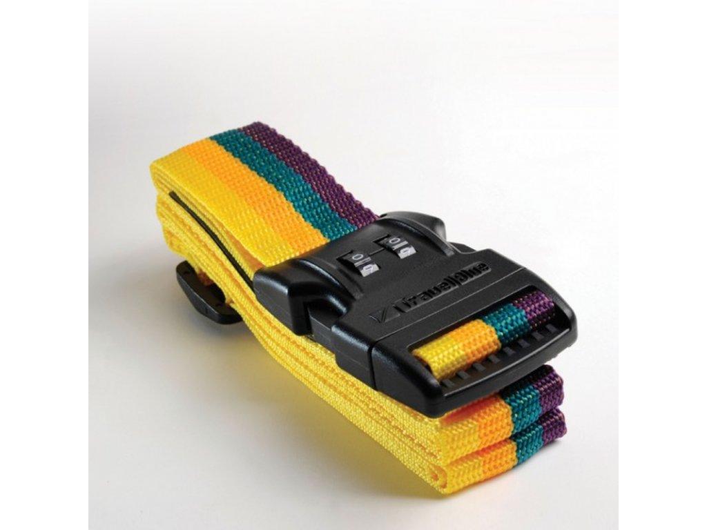 Cestovní upínací pás na zavazadla s extra pevnou přezkou a bezp. kombinací 3,75x200cm TBU046