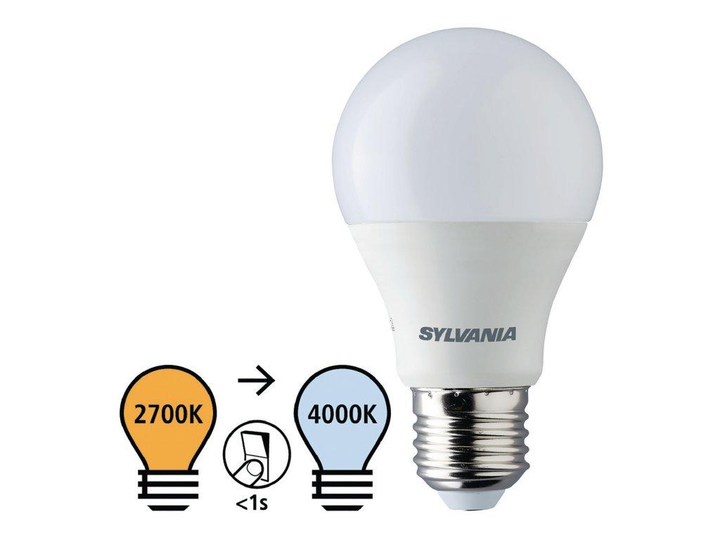 Sylvania ToLEDo LED žárovka E27 8W 806lm, 2700K/4000K (0026998)