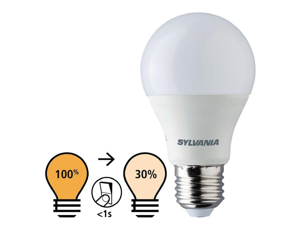 Sylvania ToLEDo LED žárovka E27 8.5W 806lm 2700K, jas 100-30% (0026999)