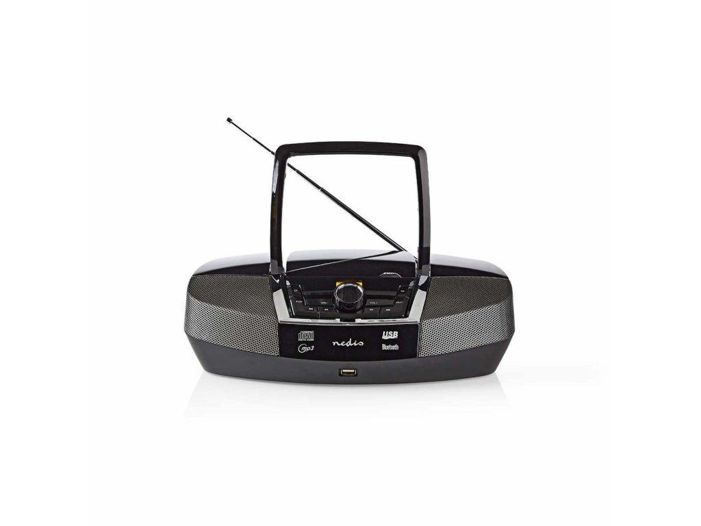 Nedis SPBB200BK přenosný přehrávač 12 W / CD / rádio / Bluetooth / USB / AUX černý