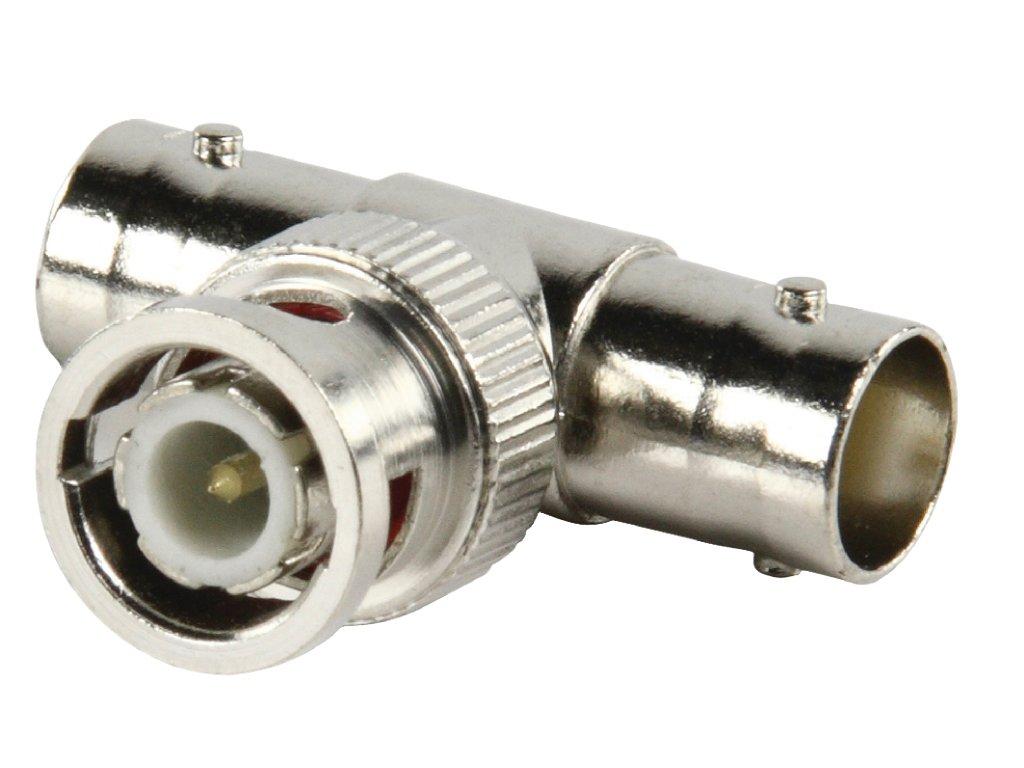 Adaptér BNC rozbočovač ve tvaru T BNC zástrčka - 2x BNC zásuvka (BNC-008)