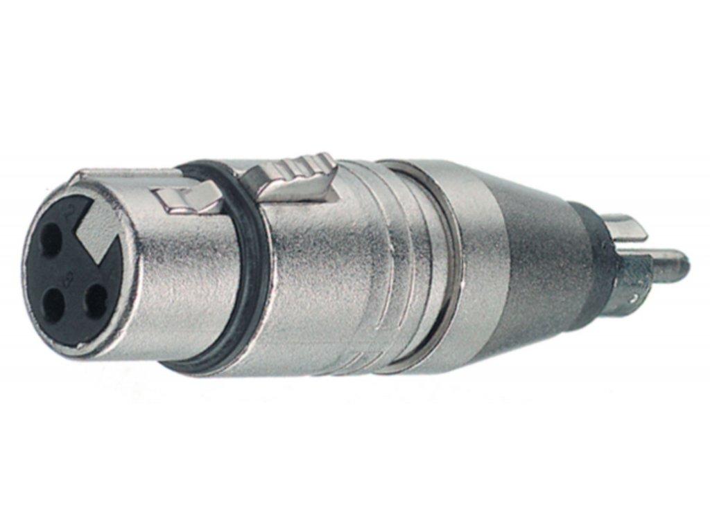 Neutrik adaptér XLR 3pin zásuvka - RCA zásuvka (NTR-NA2FPMM)