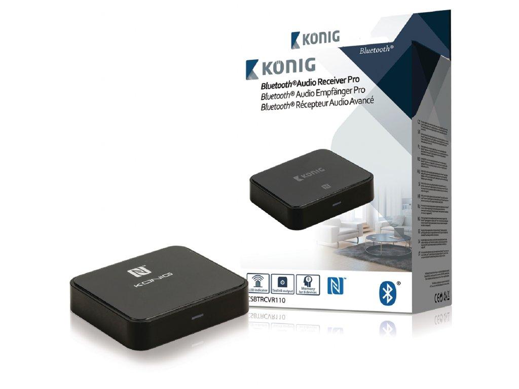 Bluetooth audio přijímač s NFC König CSBTRCVR110