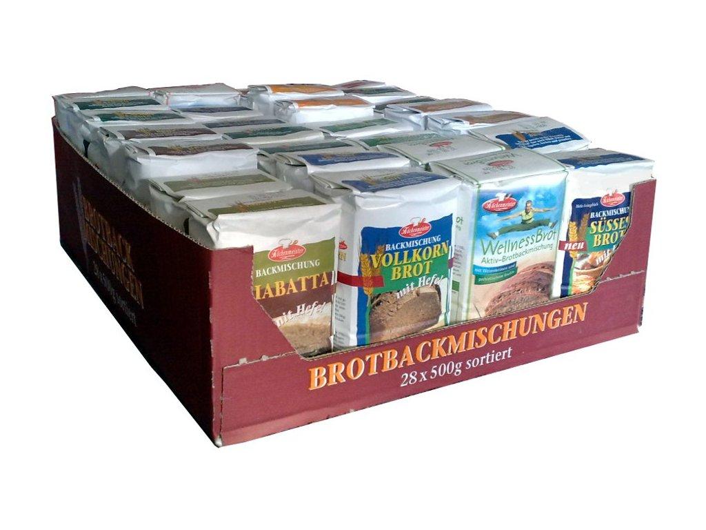 Chlebové směsi - testovací sada 28 kusů chlebových směsí