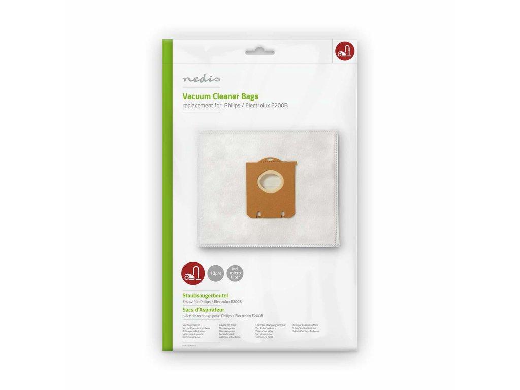 Nedis sáčky pro vysavače Philips S-bag/Electrolux E200B 10ks + mikrofiltr (DUBG120AEP10)