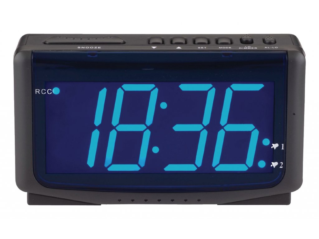 Rádiem řízený digitální LED budík Balance 112424
