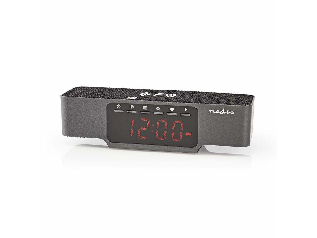Nedis CLAR007BK radiobudík s bezdrátovou dobíječkou mobilu, Bluetooth, USB, microSD slot, AUX