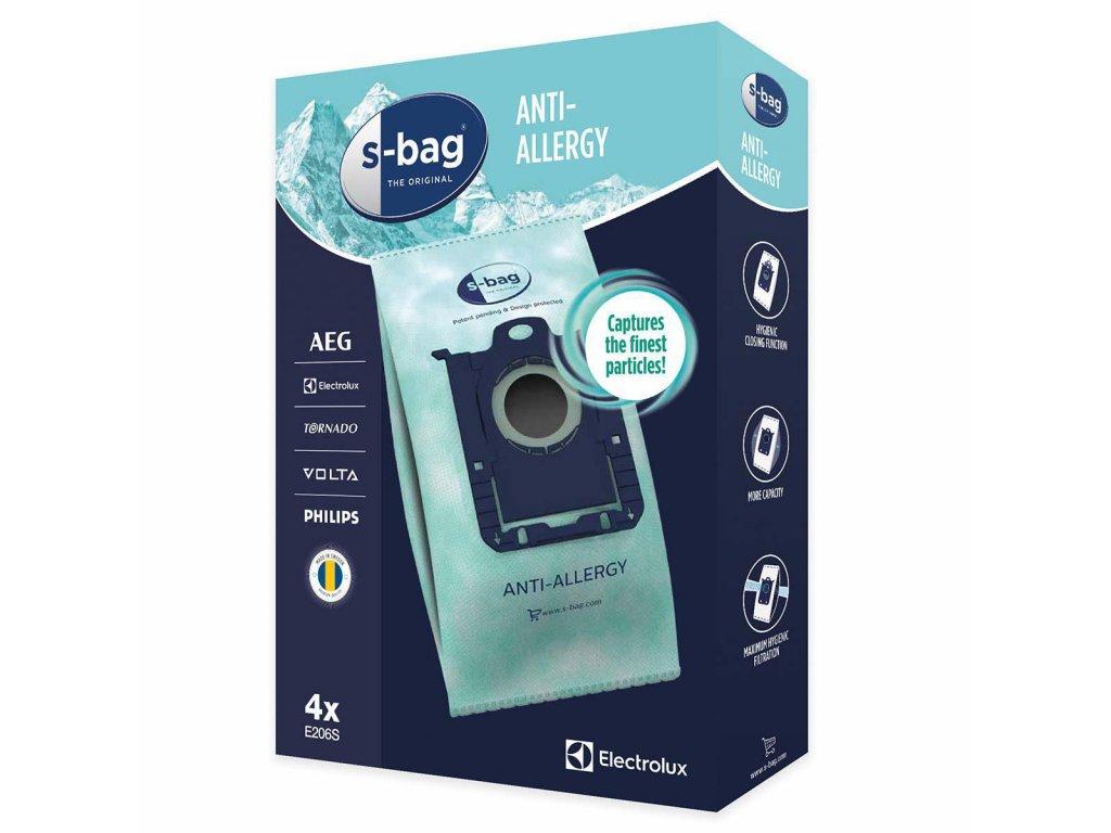 Sáčky Electrolux S-Bag E206S antialergenní, 4ks, 9001684605