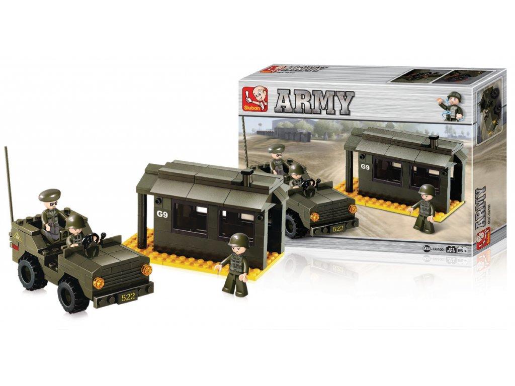 Stavebnicové Kostky Army Serie Radarová Základna