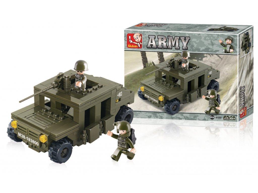 Stavebnicové Kostky Army Serie Obrněné Vozidlo