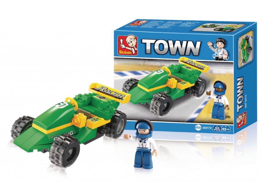 Stavebnicové Kostky Town Serie Závodní Auto